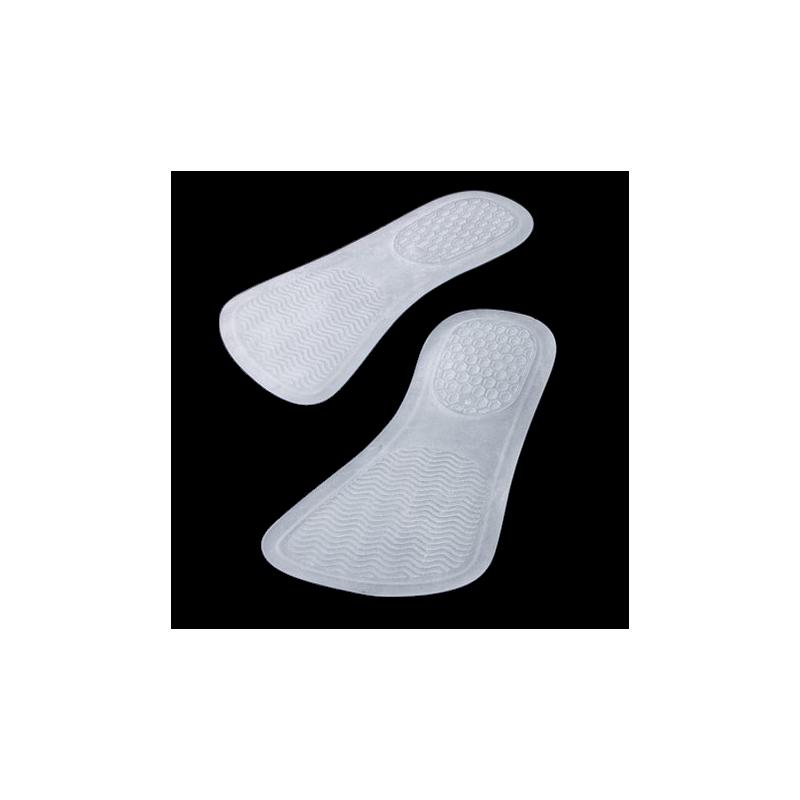Paire de semelles Bio-Gel blanc silicone 16.5 x 8.2 cm