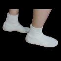 Chaussons chaleur taille L/XL homme laine ivoire 25 x 15 x 2 cm