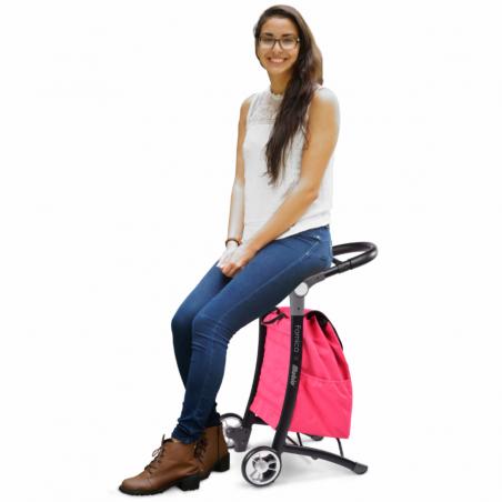 Chariot de courses avec assise