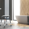 Tabouret de douche avec siège pivotant