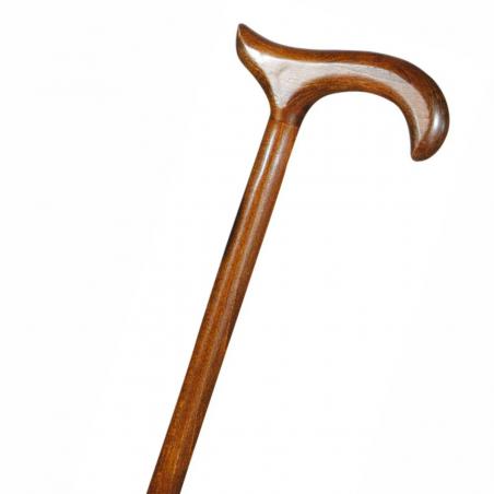 Canne de marche moyenne fixe hêtre marron