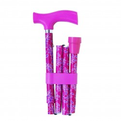 "Canne pliante Switch Sticks ""Feuillage Rose"""
