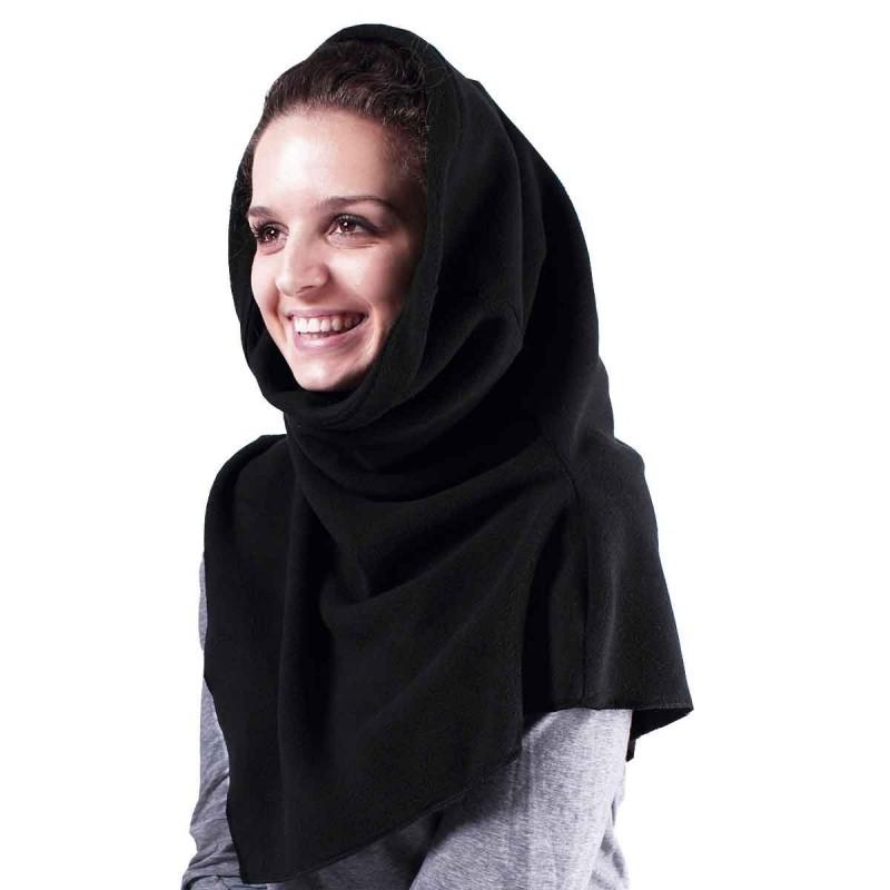 Châle capuche tour de cou 2 en 1 - Coloris noir