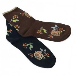 Lot de 2 paires de socquettes motif roses