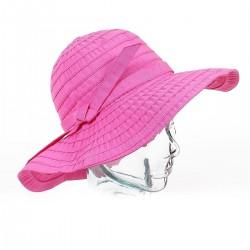 Chapeau de soleil en toile ruban