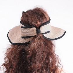 Visière pliable forme chapeau de paille