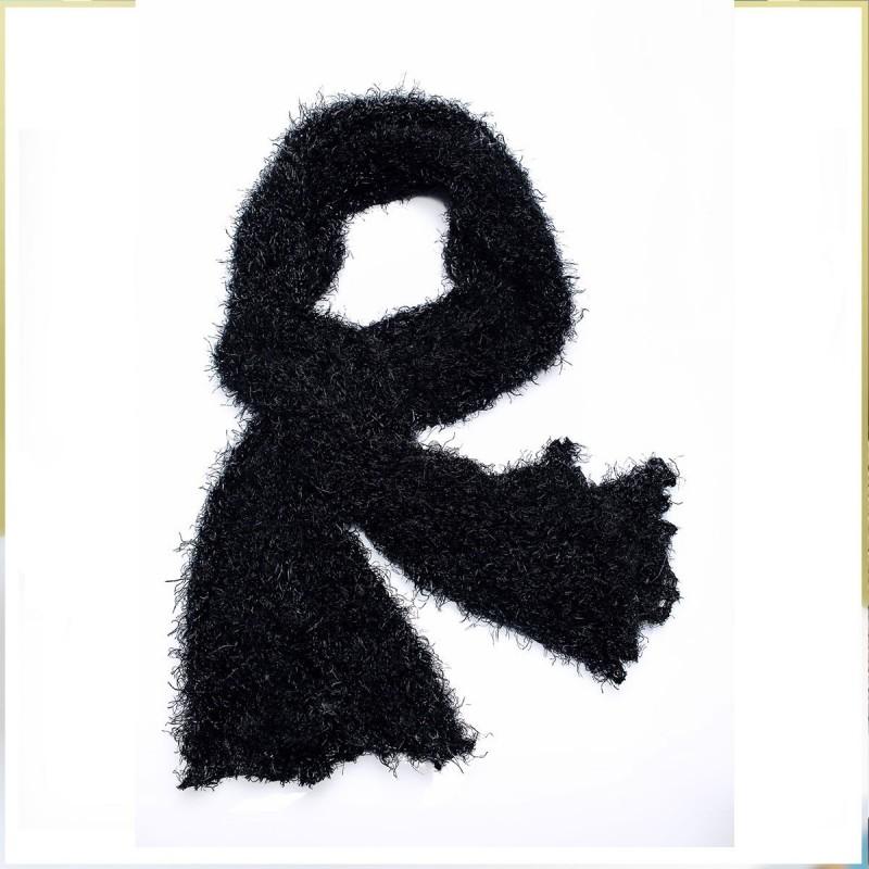 Echarpe tube noire en polyester