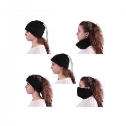 Bonnet écharpe bandeau 5 en 1