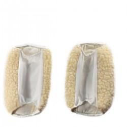 Réchauffe-coudes/genoux écru 17.5 cm - Lot de 2