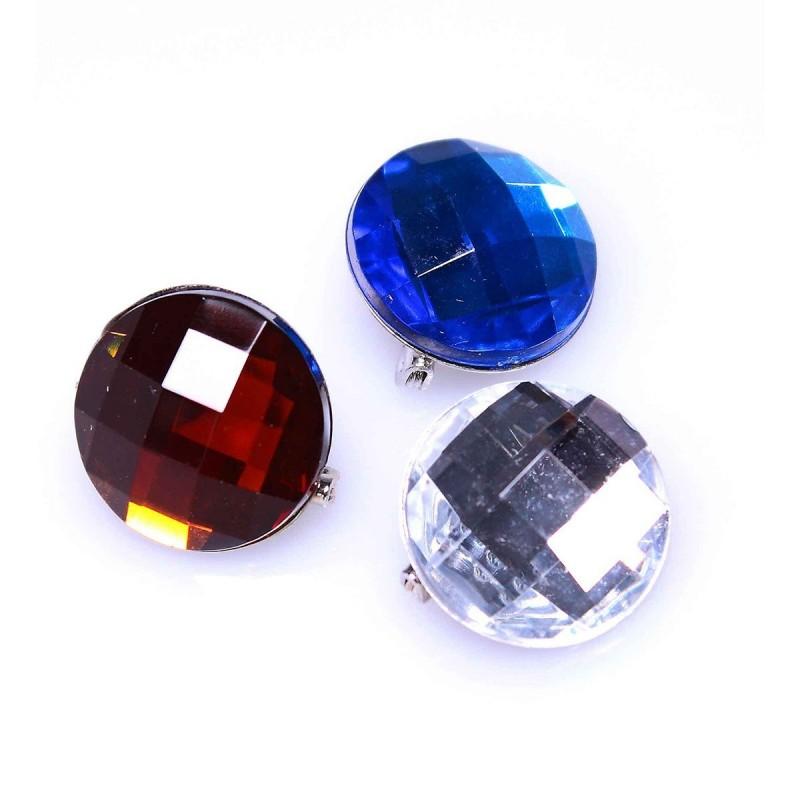 Clip bijoux pour foulards métal 2 cm - Lot de 3
