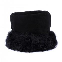 Chapeau bord fourrure noir polaire