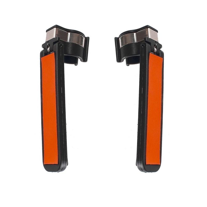 Porte-cannes orange plastique 11.5 x 2.4 cm - Lot de 2