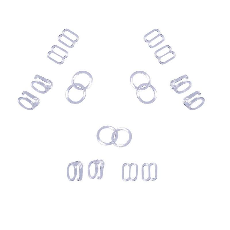 Accessoires bretelles soutien-gorge transparent plastique - Lot de 30