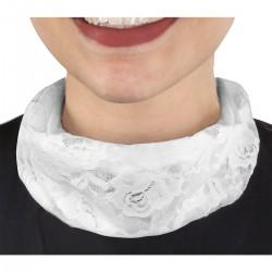 Tour de cou dentelle fermeture magnétique blanc polyamide 48.5 x 18.5 cm