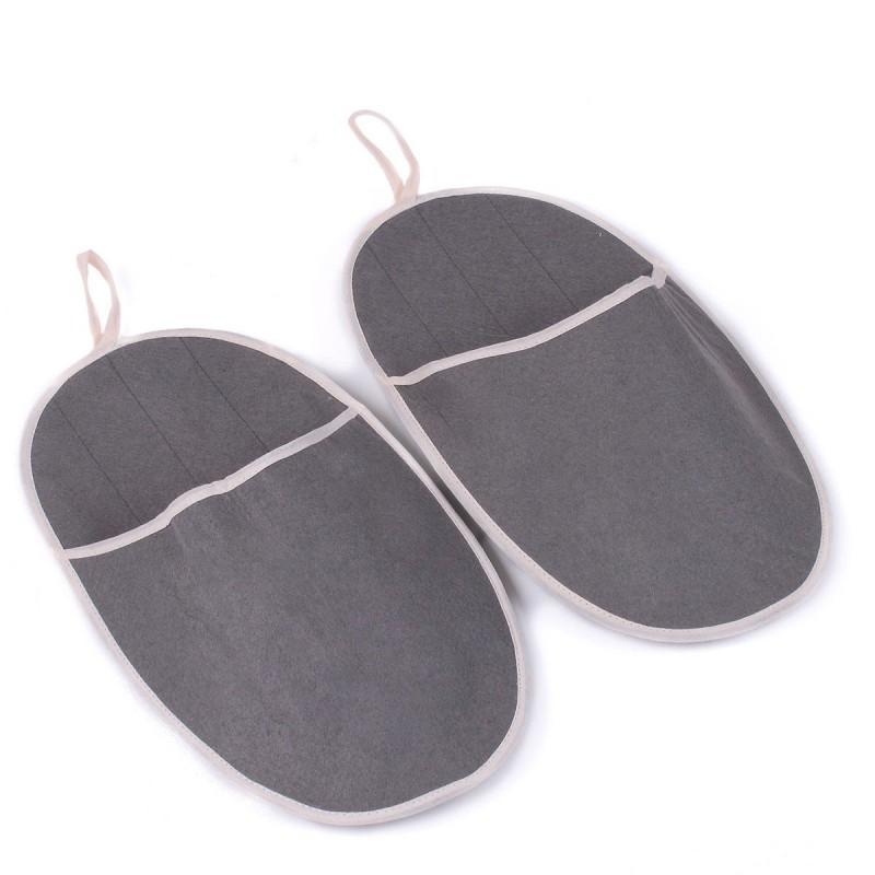 Maxi chaussons intérieur gris polyester 35 x 19.5 cm