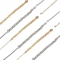 Chaînettes rallonge collier en métal - Lot de 6 c