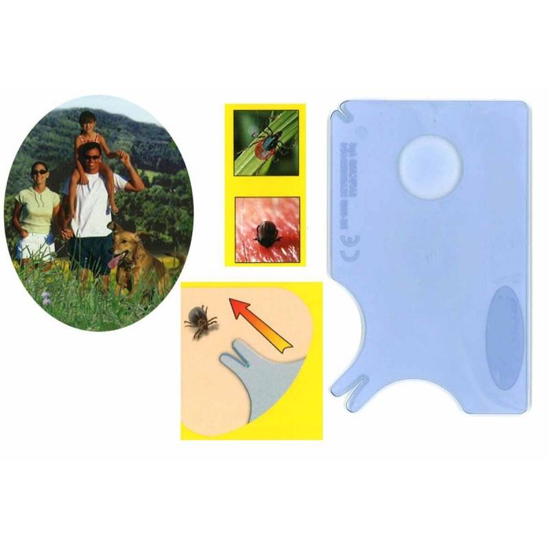 Carte à tiques plastique 8.5 x 5.4 cm - Lot de 2