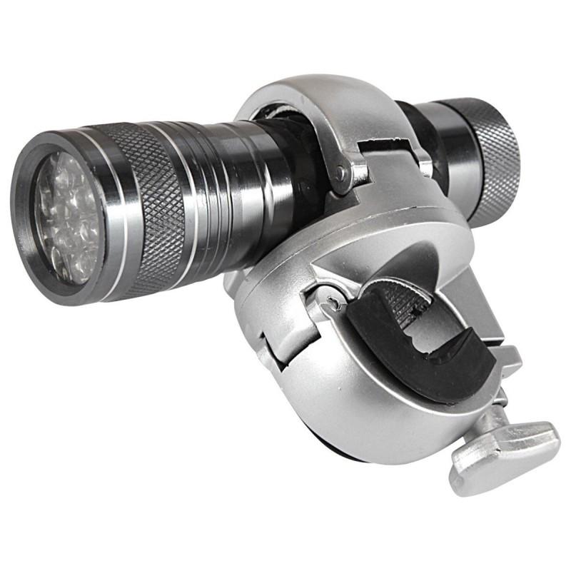 Lampe à LED pour canne gris aluminium 10 x 3 cm