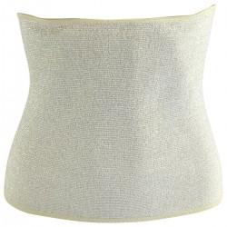 Ceinture thermique grand froid taille L écru polyester 28 cm