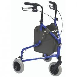 Rollator à 3 roues bleu