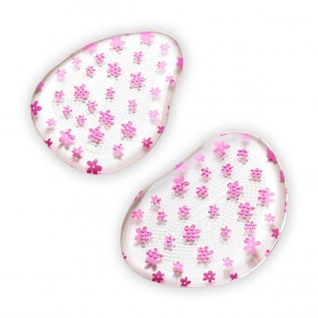 2 coussinets métatarse gel - motifs fleurs