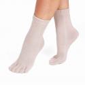 Chaussettes avec doigts chair femme