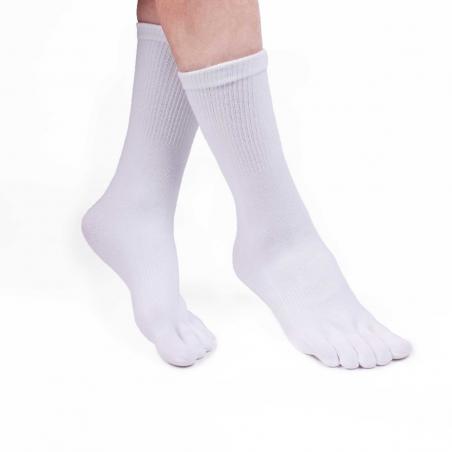 Chaussettes avec doigts blanc femme