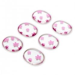 6 coussinets gel motifs fleurs