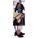 Chausse pied extensible 2 en 1 avec crochet habillage