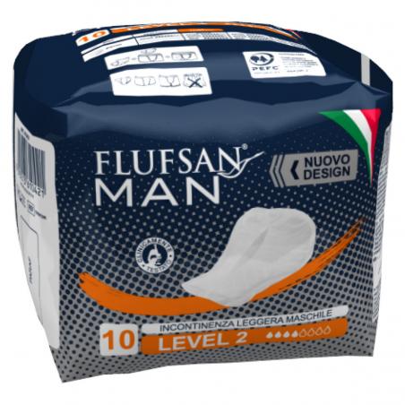 Serviettes incontinence homme - 10 pcs
