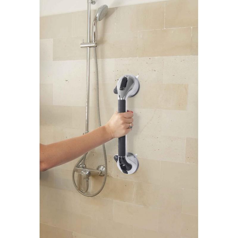Poignée xl 2 ventouses pour baignoire 41.5 cm