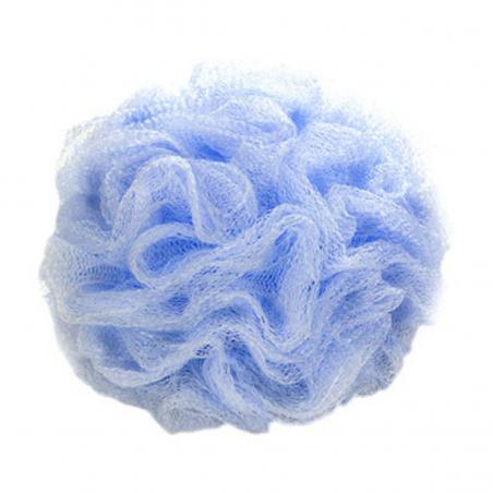 Fleur de bain avec ventouse coloris bleu