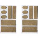 14 protections microfibres adhésives prédécoupées
