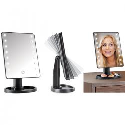 Miroir avec 16 led + touches tactiles