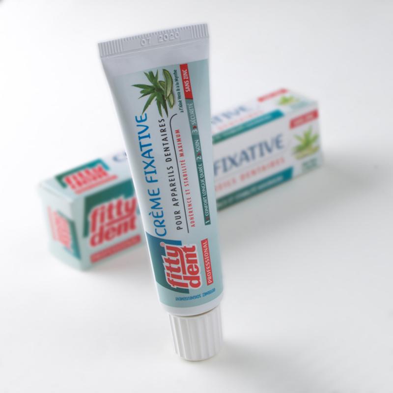 Crème fixative pour appareil dentaire 40 gr